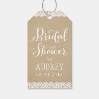 Bridal Shower Favor Tag | Lace and Kraft
