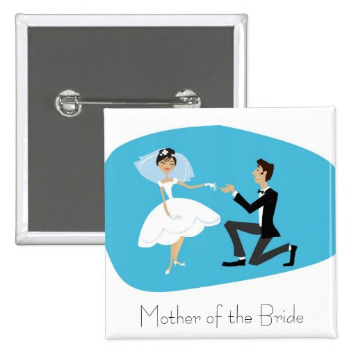 Bridal Shower Favour-Mother of the Bride 15 Cm Square Badge