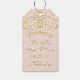 Bridal Shower Favour Tags   Gold Vintage Glamour