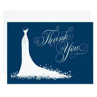 Bridal Shower Flat Thank You Cards | Wedding Gown 9 Cm X 13 Cm Invitation Card