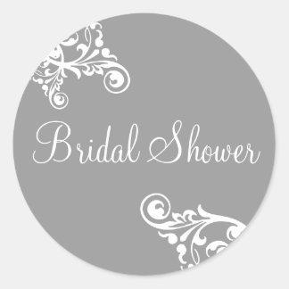 Bridal Shower Flourish Envelope Sticker Seal