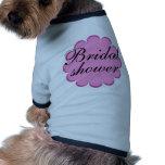 Bridal Shower flower design! Dog Tee Shirt