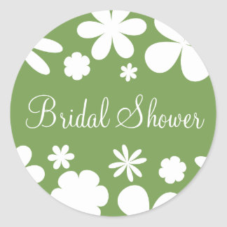 Bridal Shower Flower Power Sticker Seal