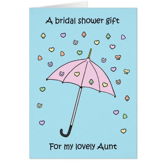 Bridal shower gift for Aunt Card