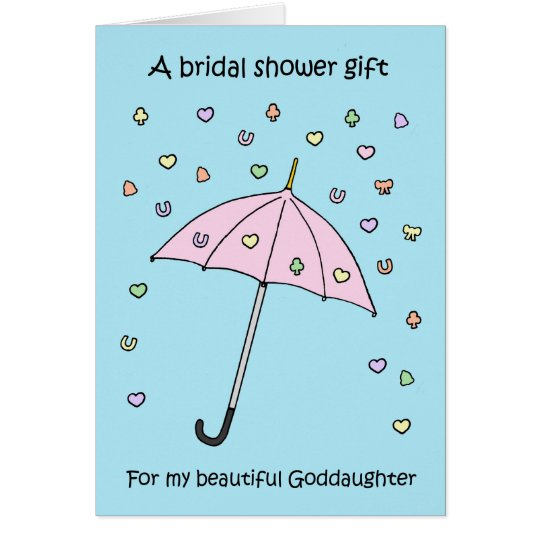 Bridal shower gift for Goddaughter Card