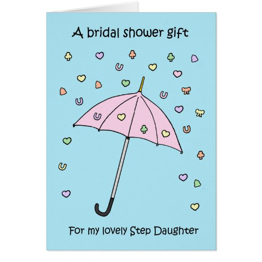 Bridal Shower gift for Step Daughter Card