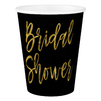 Bridal Shower Gold Foil Paper Cup