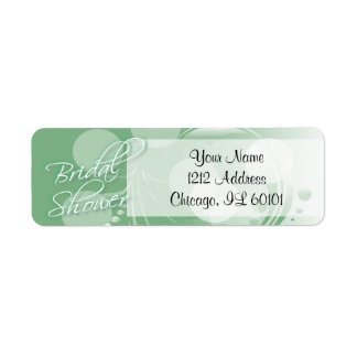 Bridal Shower in a Mint Green and White Return Address Label