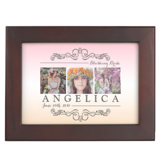 Bridal Shower Instagram Wedding Ombre Photo Grid Memory Boxes