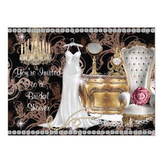 "BRIDAL SHOWER INVITATION Antique Wallpaper 5.5"" X 7.5"" Invitation Card"
