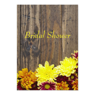 Bridal Shower Invitation--Autumn Wedding Card