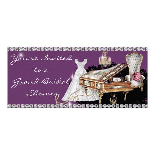 Bridal Shower Invitation Bling & Diamonds