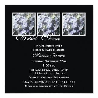 Bridal Shower Invitation -- Blue Hydrangeas