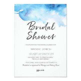 Bridal Shower Invitation | Blue watercolour