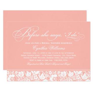 Bridal Shower Invitation | Blush Floral Lace