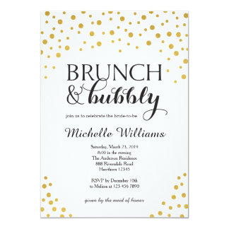Bridal Shower Invitation / Brunch & Bubbly Invite