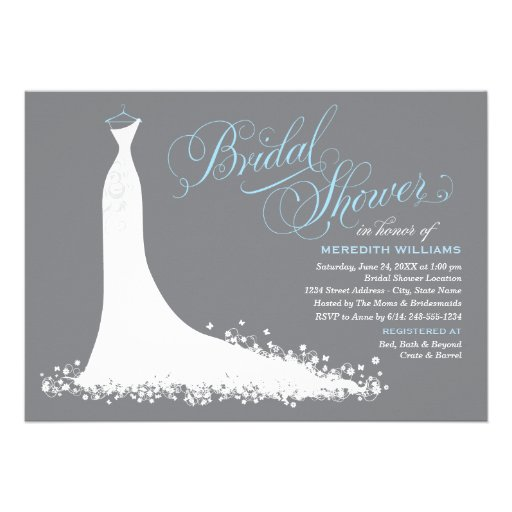 Bridal Shower Invitation | Elegant Wedding Gown Invite