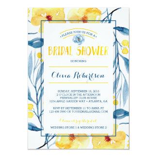 Bridal Shower Invitation, Floral Watercolor Card
