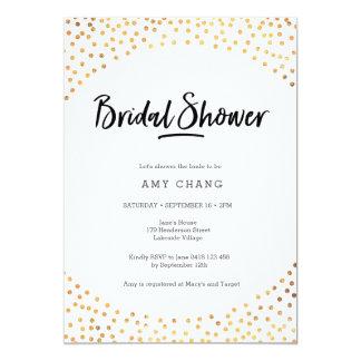 Bridal Shower Invitation | Gold spots