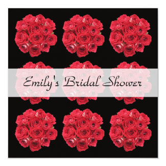 Bridal Shower Invitation -- Gorgeous Bridal Roses