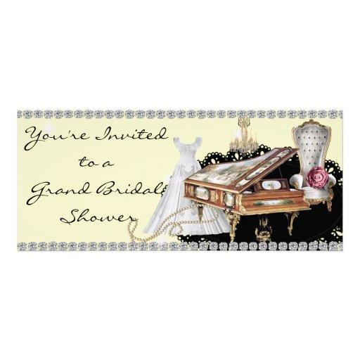 Bridal Shower Invitation Grand Piano Theme