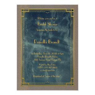 Great gatsby bridal shower invitations zazzle bridal shower invitationgreat gatsby blue marble invitation filmwisefo