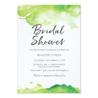 Bridal Shower Invitation | Green watercolor