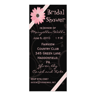 Bridal Shower Invitation in Pink and Black