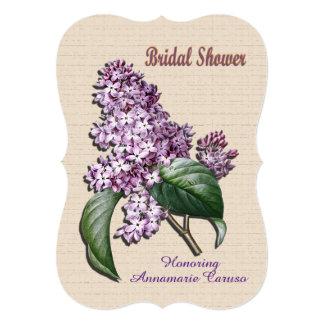 Bridal shower Invitation Lilacs