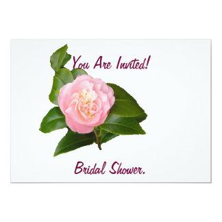 Bridal Shower Invitation, pink flower. 13 Cm X 18 Cm Invitation Card