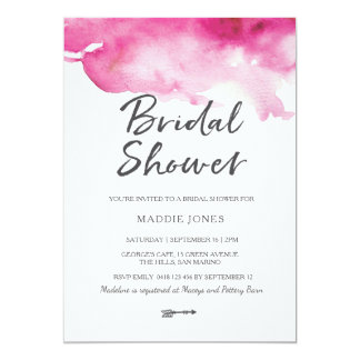 Bridal Shower Invitation | Pink watercolour