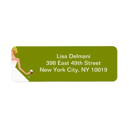 Bridal Shower invitation Return Address Label
