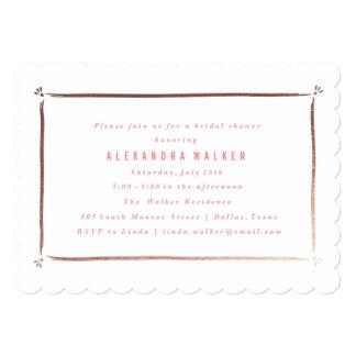 Bridal Shower Invitation | Rose Gold border