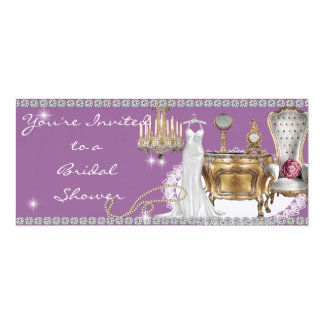 Bridal Shower Invitation surrounded by Diamond