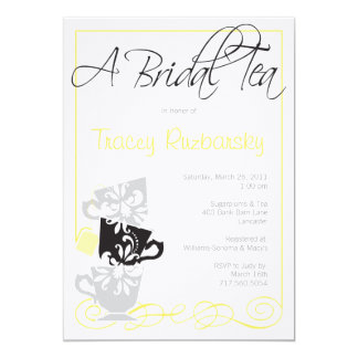 "Bridal Shower Invitation - Tea 5"" X 7"" Invitation Card"