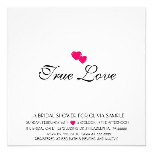 Bridal Shower Invitation True Love