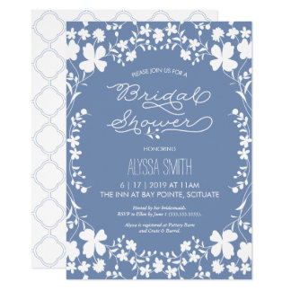Bridal Shower Invitation - Vintage Floral Clover