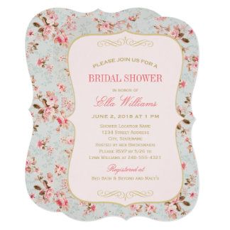 Bridal Shower Invitation | Vintage Garden Party
