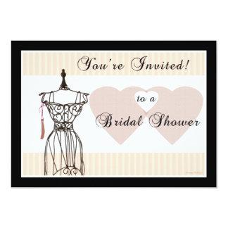 Bridal Shower Invitation Vintage Mannequin