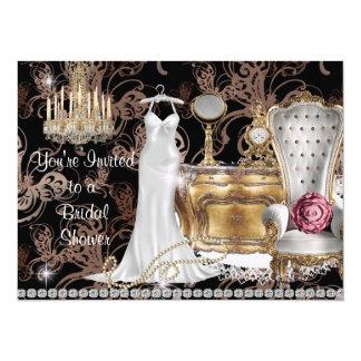 """BRIDAL SHOWER INVITATION VINTAGE Wallpaper 5.5"""" X 7.5"""" Invitation Card"""