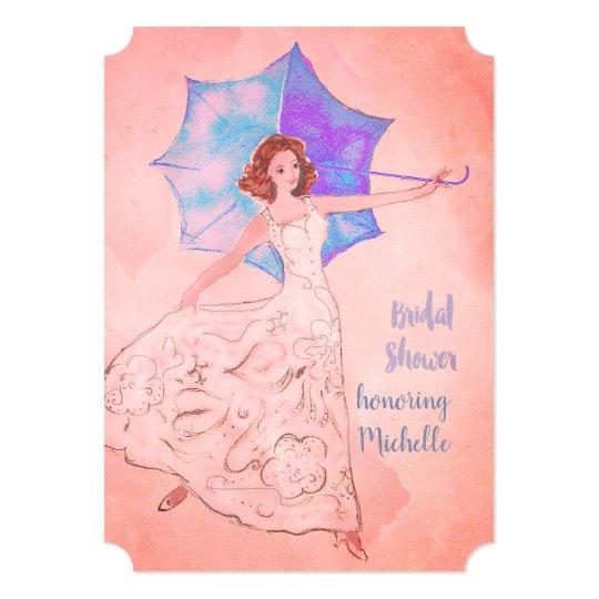 Bridal Shower Invitation Warm Pink
