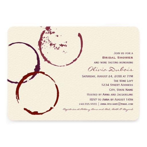 Bridal Shower Invitation | Wine Stain Rings
