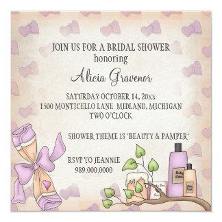 Bridal Shower Invitations (Beauty & Pamper Theme)
