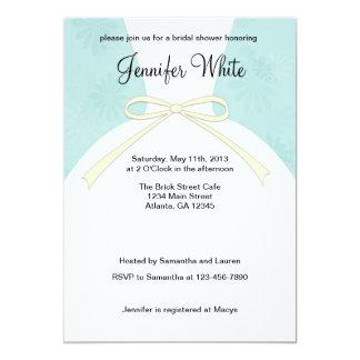 Bridal Shower Invitations Blue Dress