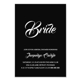 Bridal Shower Invite | Bride script