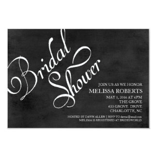 Bridal Shower Invite | Chalkboard Script