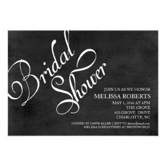 Bridal Shower Invite Chalkboard Script