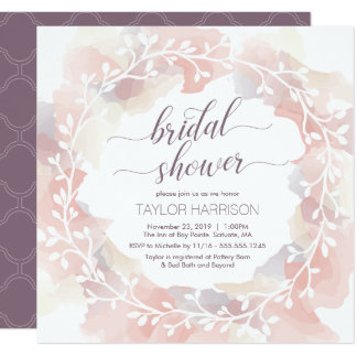 Bridal Shower Invite - Fall, Custom, Elegant