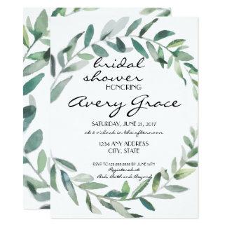 Bridal Shower Invite - Greenery Wedding