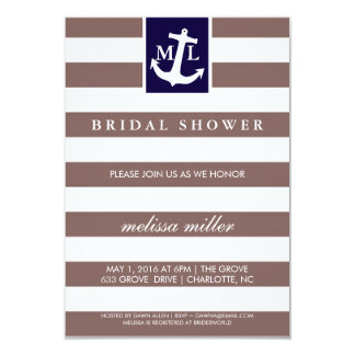 Bridal Shower Invite - Nautical Initials